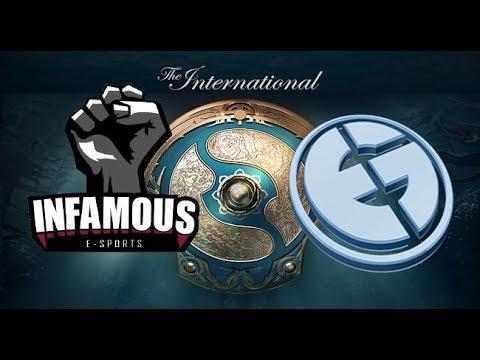 Infamous VS Evil Geniuses THE INTERNACIONAL 2017