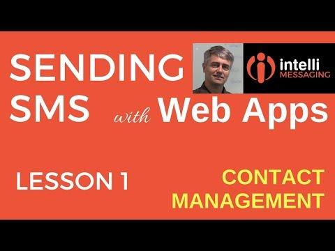 Send SMS via Web App | Contact Management
