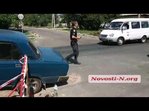 Новости-N: В Николаеве пьяный водитель на «Жигулях» едва не влетел в яму, вырытую для ремонта коммуникаций