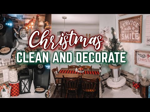 CHRISTMAS CLEAN AND DECORATE WITH ME 2019🌲 MESSY ROOM SPEED CLEANING: BUFFALO CHECK CHRISTMAS DECOR