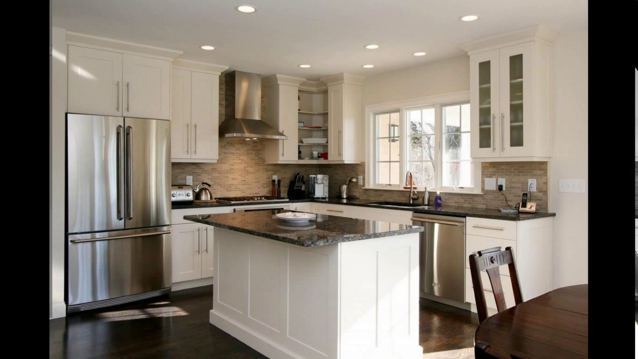 10x10 kitchen designs with island youtube for Kitchen design 11 x 12