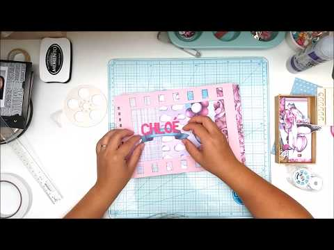 "[DT Kora Projects #2] Chipboard album ""cinema"" - scrapbook process"