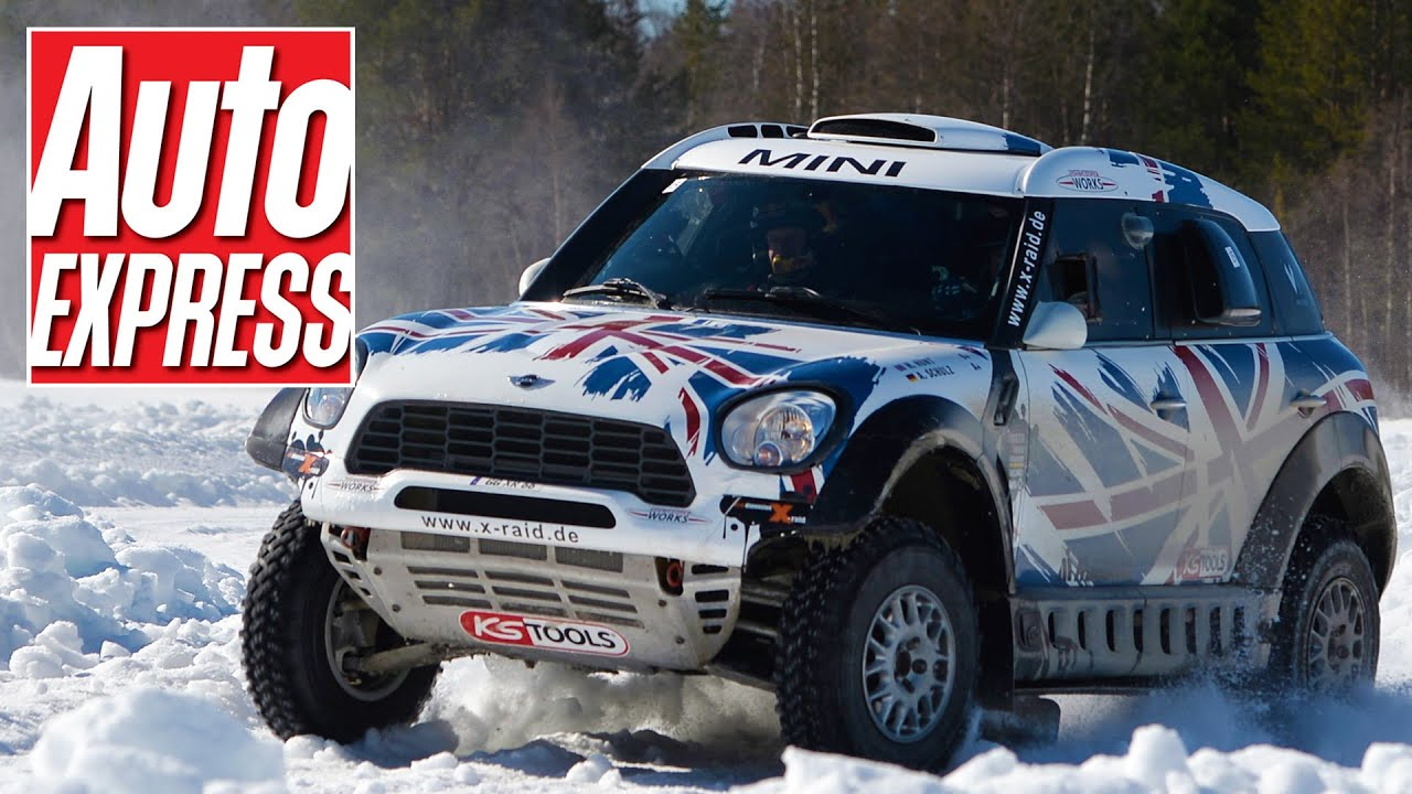 MINI ALL4 Racing Dakar car: off-road rally monster eats snow and ice ...