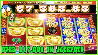 WIFE TAKE'S OVER $17,000 IN JACKPOTS! ON RED FORTUNE & A MAJOR JACKPOT