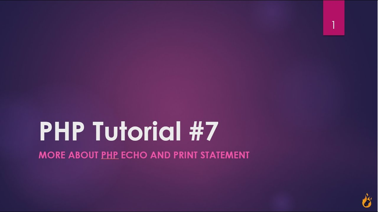 Php echo statement and how to used to print a string, multiline.