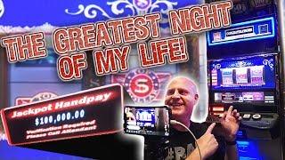 My BEST NIGHT EVER in Vegas! ✦ 100K INSANE JACKPOT! ✦ Rewind Slot Play | The Big Jackpot