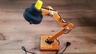 как Сделать Настольный Светильник Из Дерева Своими Руками  How To Build A Wooden Desk Lamp