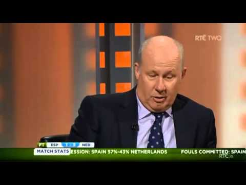 Fifa world cup 2014 Spain vs Netherlands discussion on RTE Irish tv after game
