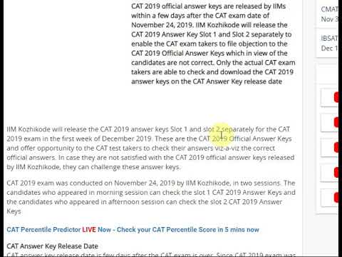 CAT 2019 Answer Key to be released by 30th November, confirms CAT 2019 c...