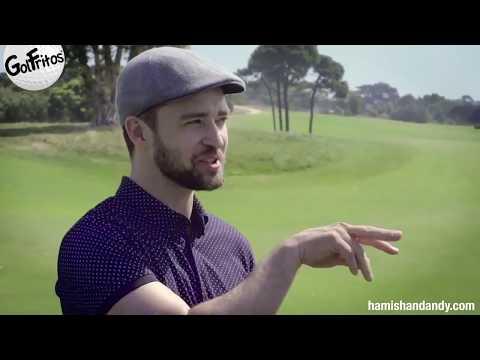 Justin Timberlake Golfing Under Pressure