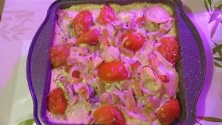 Минтай запеченный с овощами и травами в сметанном соусе. Блюдо по вашей просьбе!