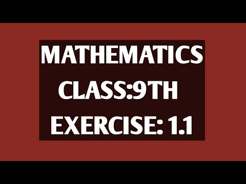 Mathematics Solution for 9th Class Text Book, Ex: 1 1(Complete)