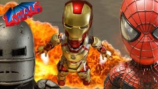 BABY SPIDERMAN Stop Motion & The IRONMAN Action Figures Trailer