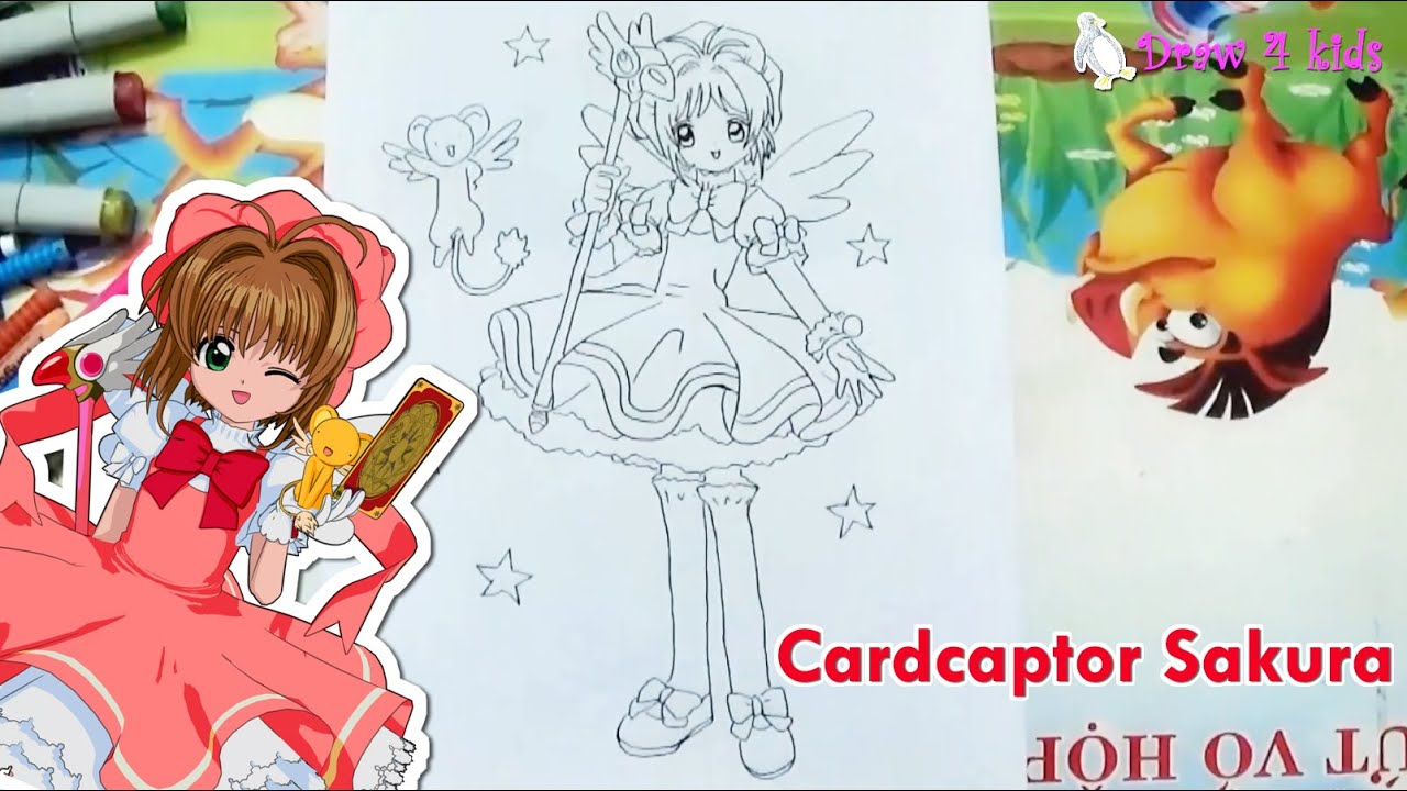 How to draw Card captor Sakura | D4K - YouTube