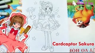 How to draw Card captor Sakura | D4K