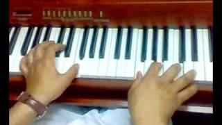عزف بيانو مابين بعينك + كوردات