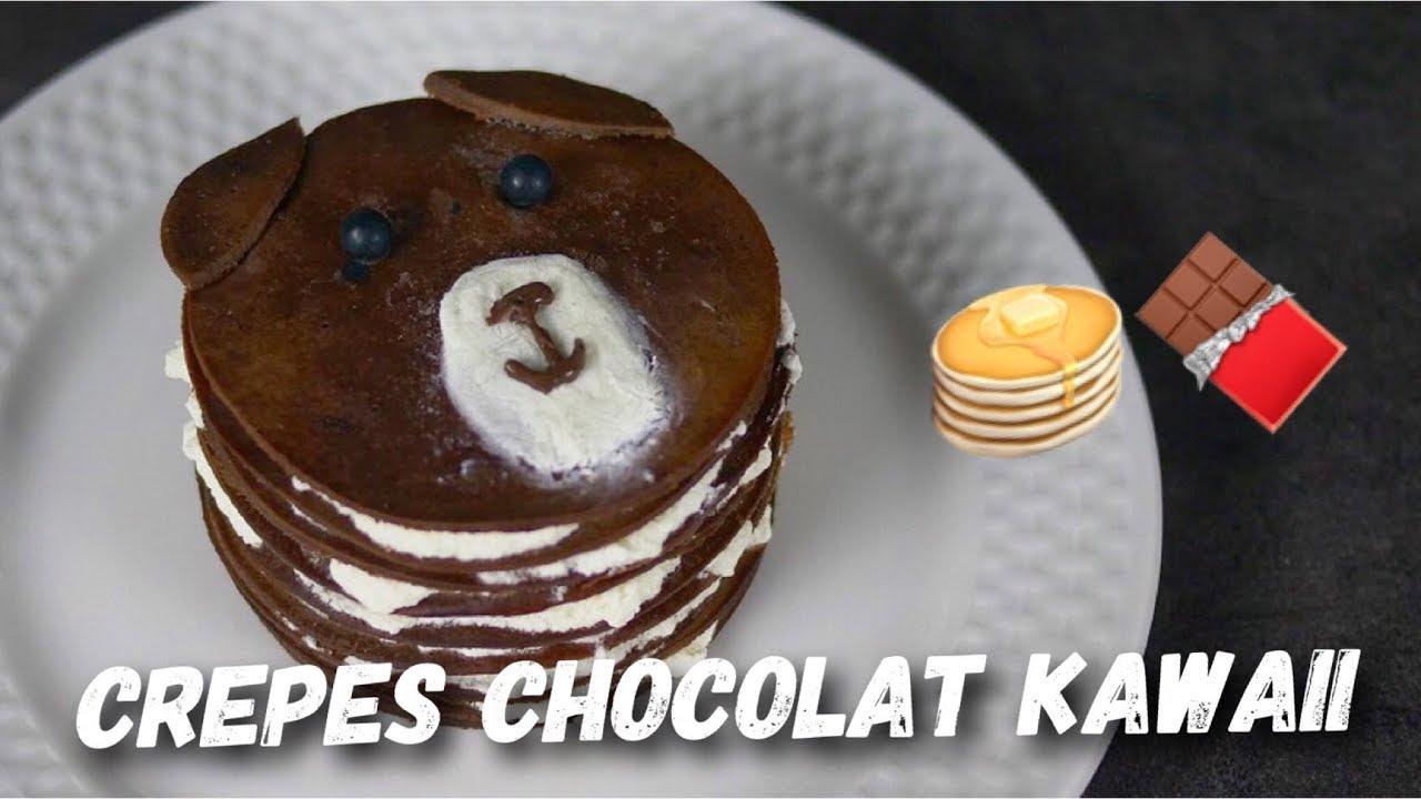 Recette Crepes Chocolat Kawaii Facile Et Rapide Youtube