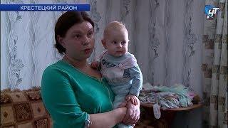 Многодетная семья из Крестец с 2007 года живет без электричества