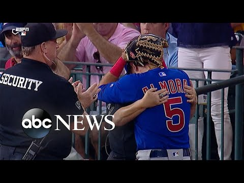 Cubs player in tears after foul ball hits young girl from YouTube · Duration:  2 minutes 5 seconds