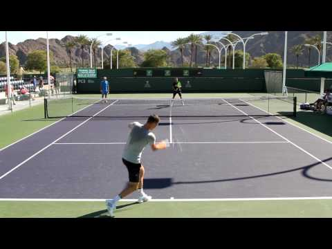 Tomas Berdych Practice 2017 BNP Paribas Open Indian Wells