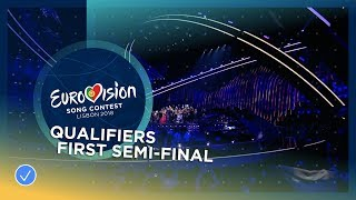 The 10 qualifiers from the first Semi-Final of the 2018 Eurovision Song Contest
