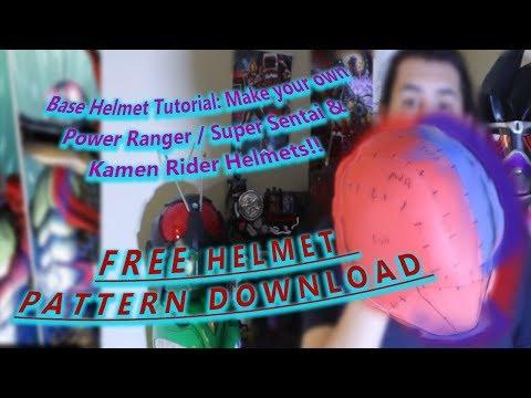 Base Helmet Tutorial: Make your own Power Ranger  Super Sentai &  Kamen Rider Helmets!!