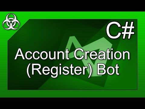 How to make an Account Creation (Register) Bot C# Visual Studio Express Tutorial