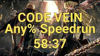 [World Record] Code Vein Any% Speedrun 58:37