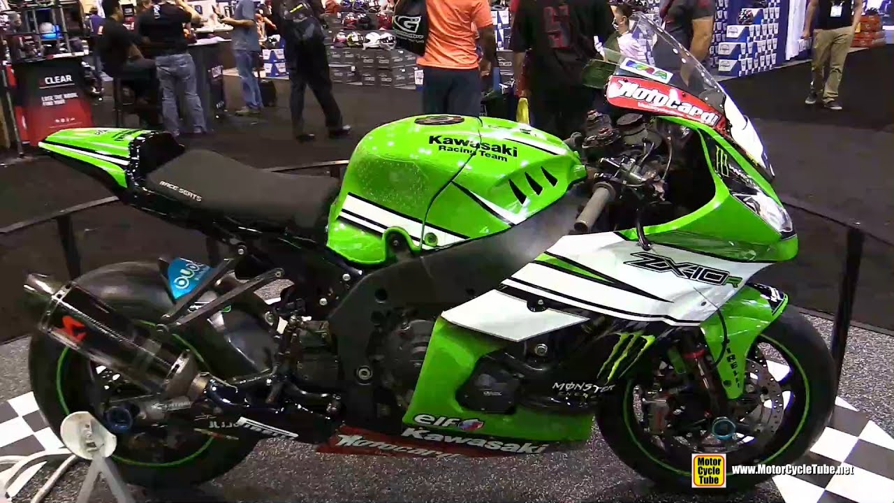 2015 Kawasaki Ninja ZX 10R World Superbike Racing Bike   Walkaround   2015  AIMExpo Orlando   YouTube