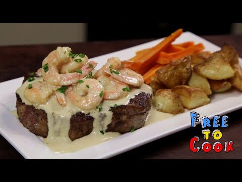 How To Cook Surf And Turf With Garlic Creamy Sauce