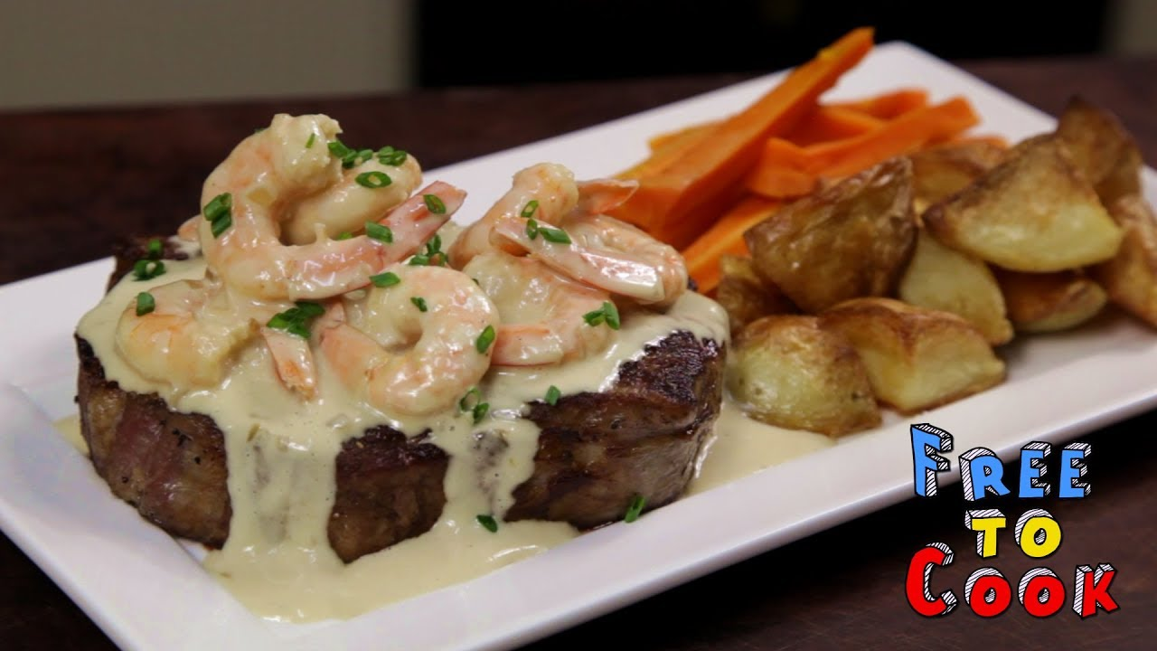 Turf And Surf >> How To Cook Surf And Turf With Garlic Creamy Sauce