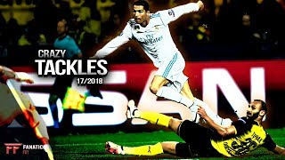 Crazy Tackles & Defensive Skills In Football 17/2018 #1 || Hd
