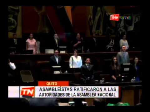 Asambleístas ratificaron a las autoridades de la asamblea nacional