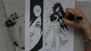 Speed drawing Uchiha Madara -Naruto-