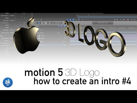 How to Create a 3D Logo using Fonts in Motion 5.2