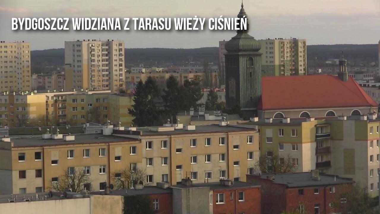Bydgoszcz widziana z tarasu Wieży Ciśnień
