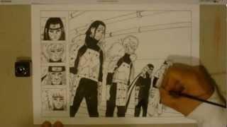 Speed drawing Edo Tensei on the Hokage (cap 618) -Naruto-