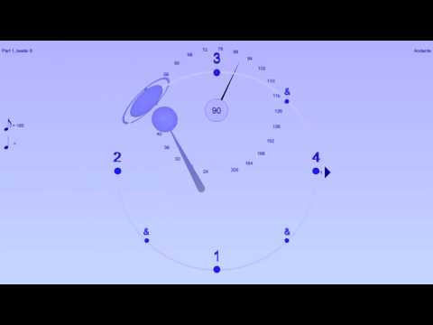 Shuffle example - played straight - Bounce Metronome Video example for Wikipedia