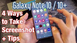 Galaxy Note 10 / 10+: How to Take Screenshot 4 Ways + Tips