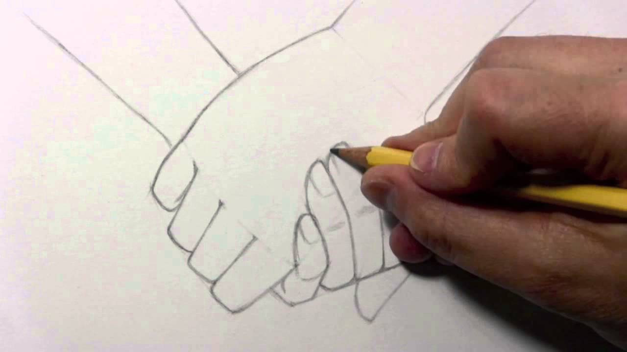 Drawing Time Lapse Holding Hands Youtube