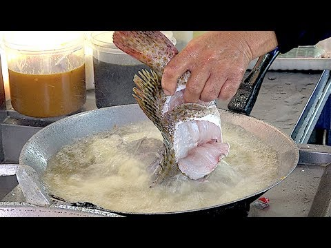FANTASTIC!! Street Food Whole GROUPER Fish Sweet and Sour Sauce