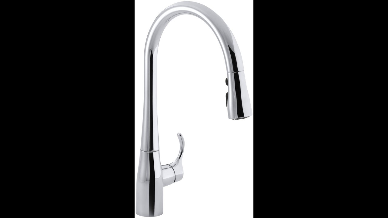 single hole faucet kitchen kohler k 596 cp simplice single pull kitchen 21719