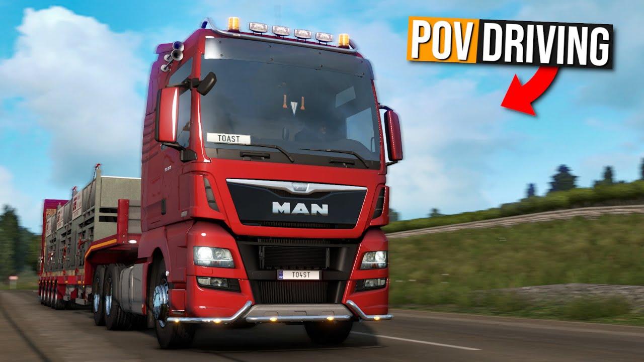 TruckersMP 1.39 - Duisburg → Calais | POV Driving | Euro Truck Simulator 2 Multiplayer | Toast