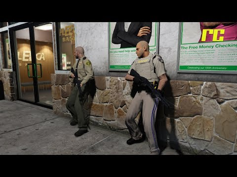 GTA 5 Roleplay | Roll Call - Fleeca Bank Robbery (Law Enforcement)