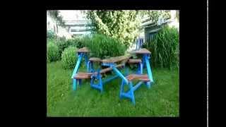 Стол-скамейка складной трансформер