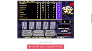 Jacks or Better Video Poker Tutorial