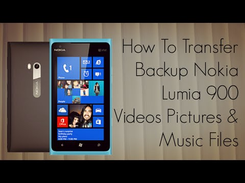 How To Transfer Backup Nokia Lumia 900 Videos Pictures & Music Files