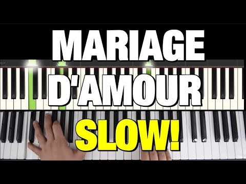 "HOW TO PLAY ""MARIAGE D'AMOUR"" BY CLAYDERMAN - PIANO TUTORIAL SYNTHESIA (Hybrid)"