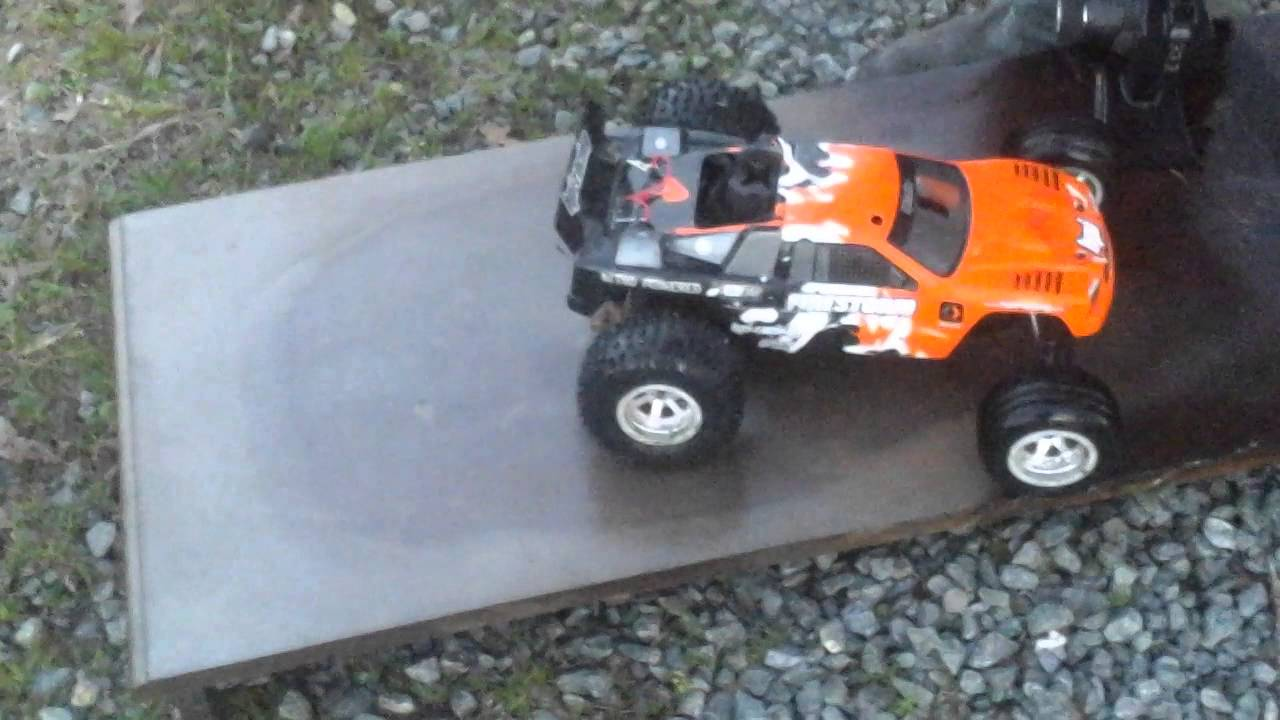 more corey rc truck stunts with ramps with person youtube. Black Bedroom Furniture Sets. Home Design Ideas