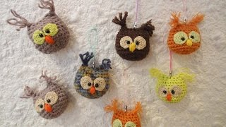 СОВА - брелок OWL - Keychain Crochet